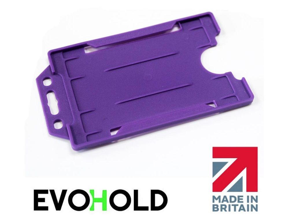 purple card holder
