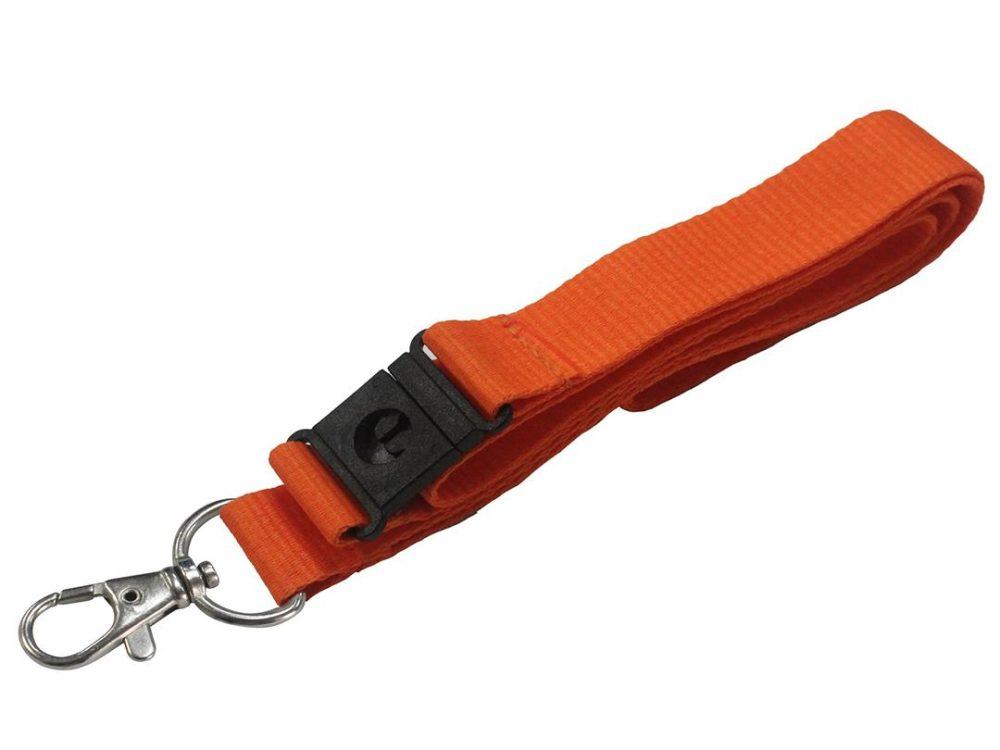 20mm orange lanyard