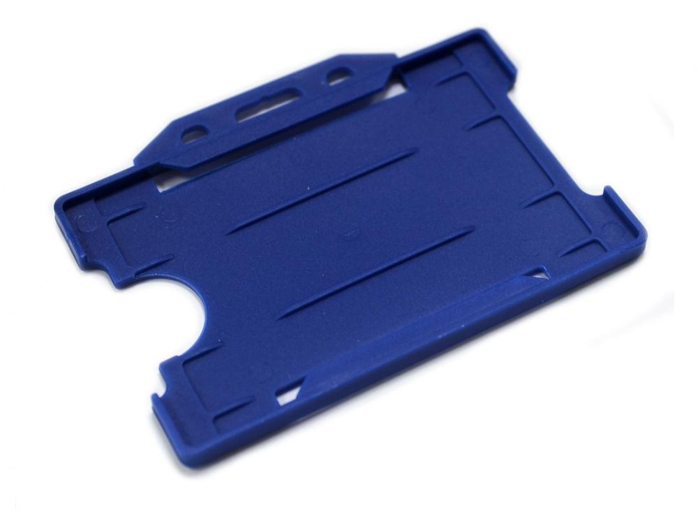 navy blue open face card holder
