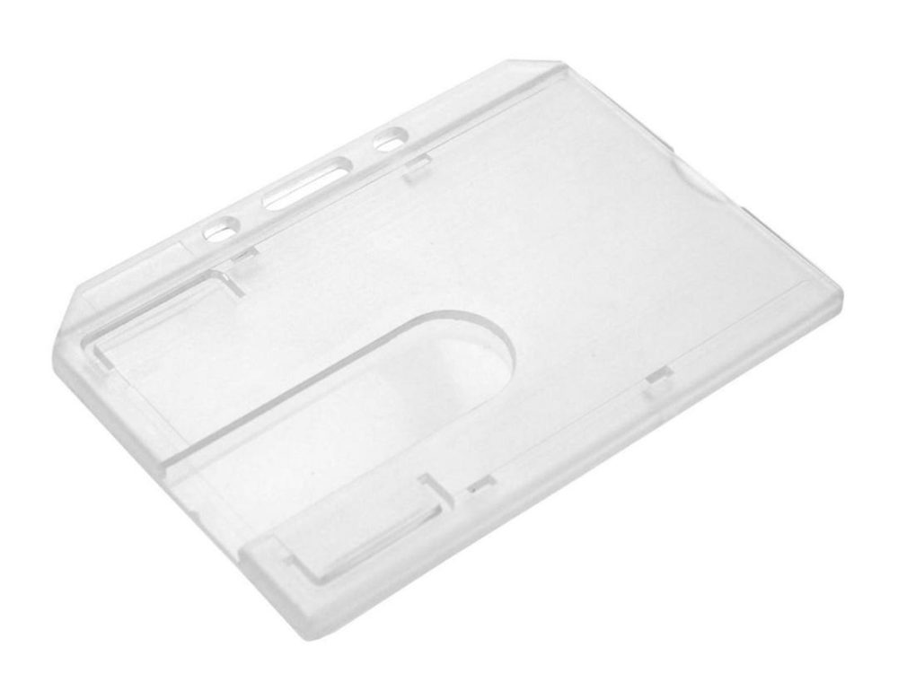 clear enclosed card holder