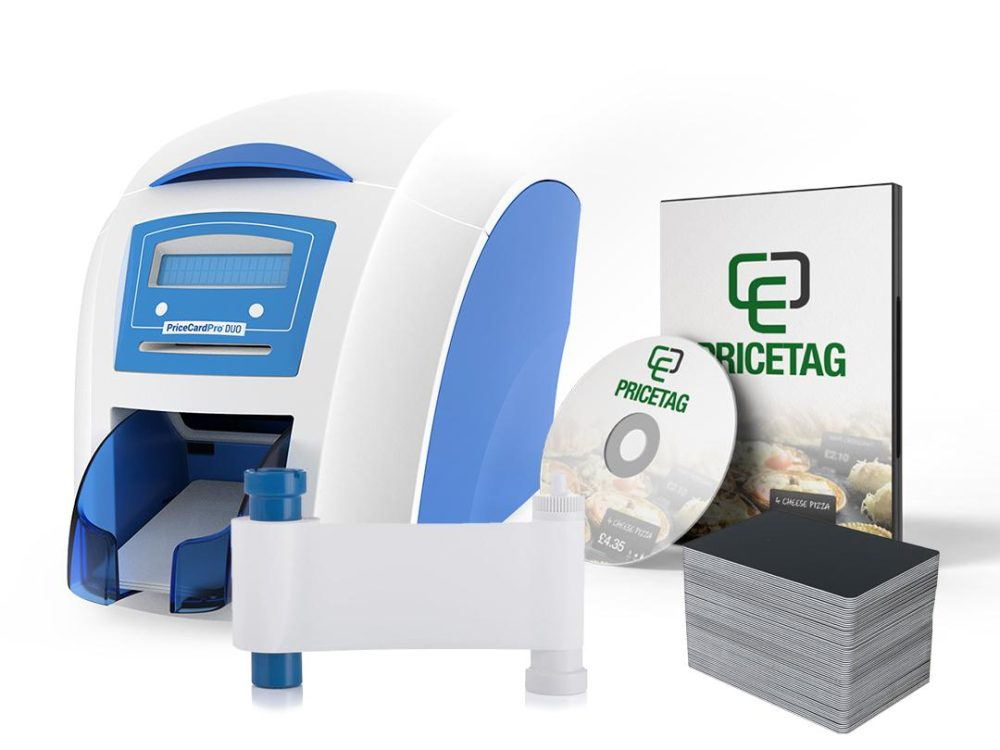 PriceCardPro Duo printer bundle with consumables and software
