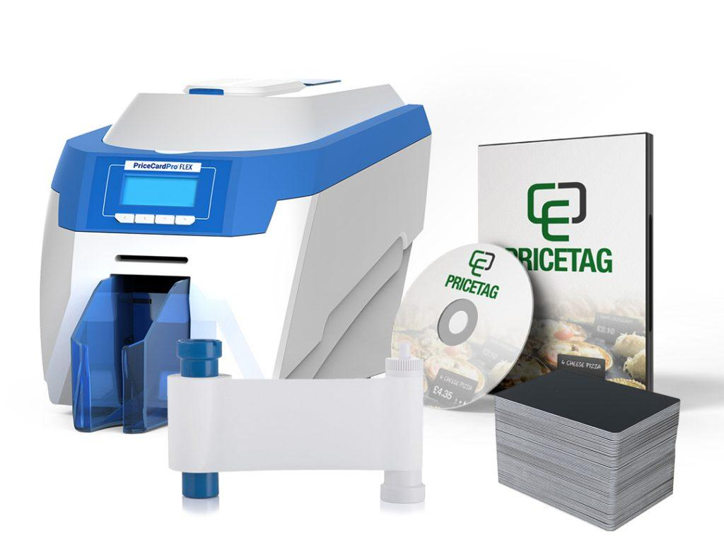 PriceCardPro Flex printer bundle with consumables and software