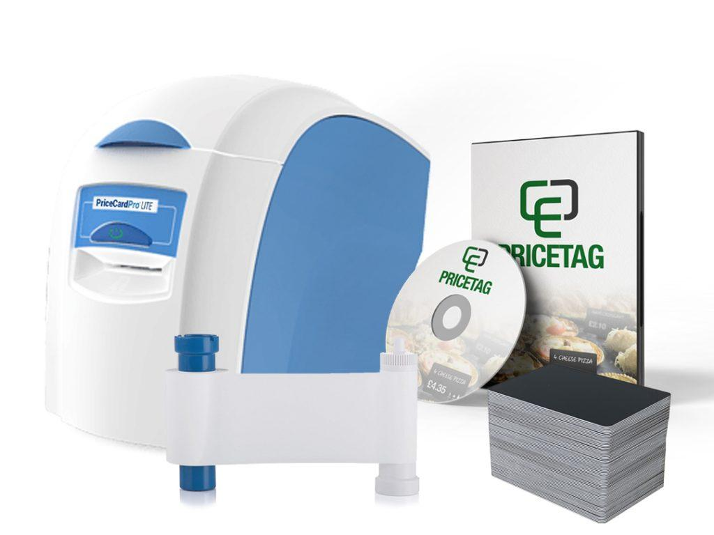 PriceCardPro Lite printer bundle with consumables and software