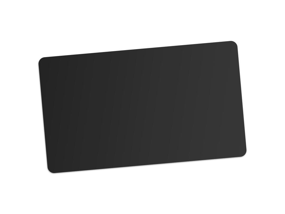 matte black card