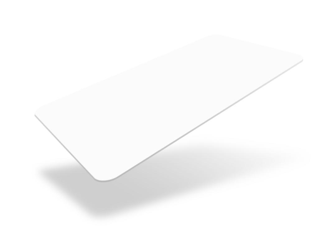 matte white card