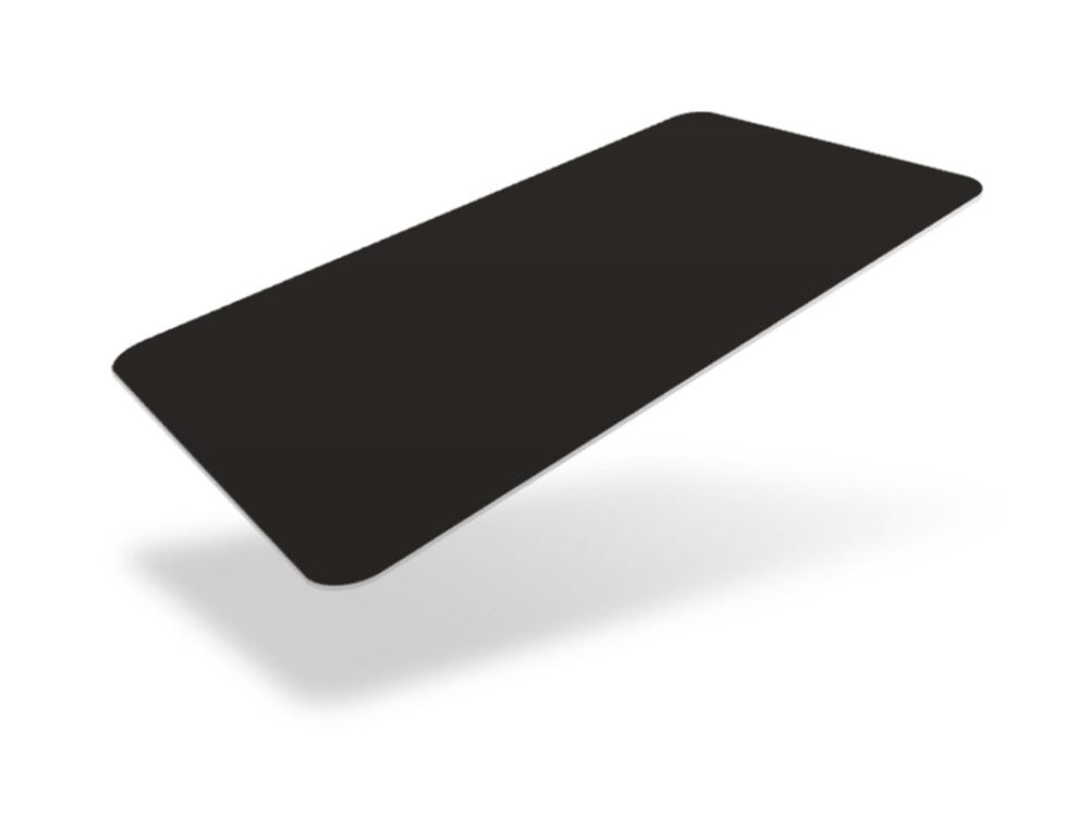 black matte heat resistant blank cards