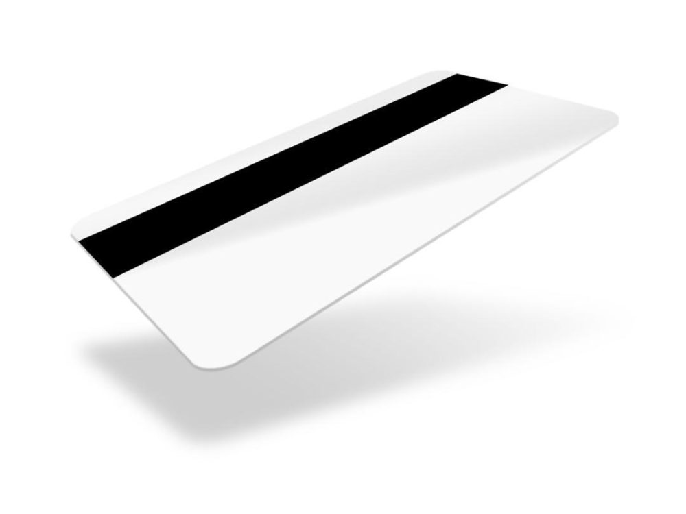 pvc white gloss blank cards with hico magstripe