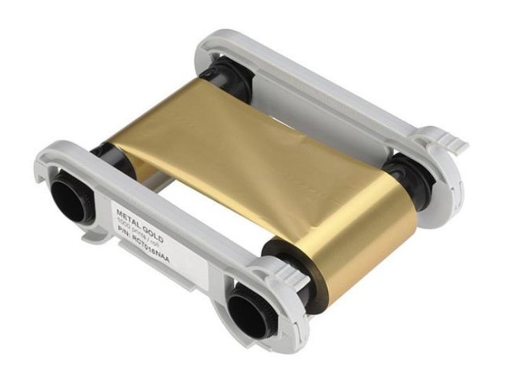 evolis gold printer ribbon
