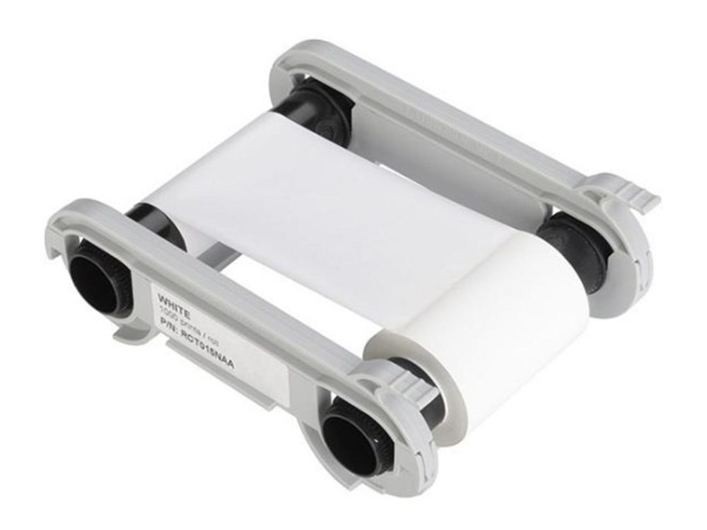 evolis white printer ribbon