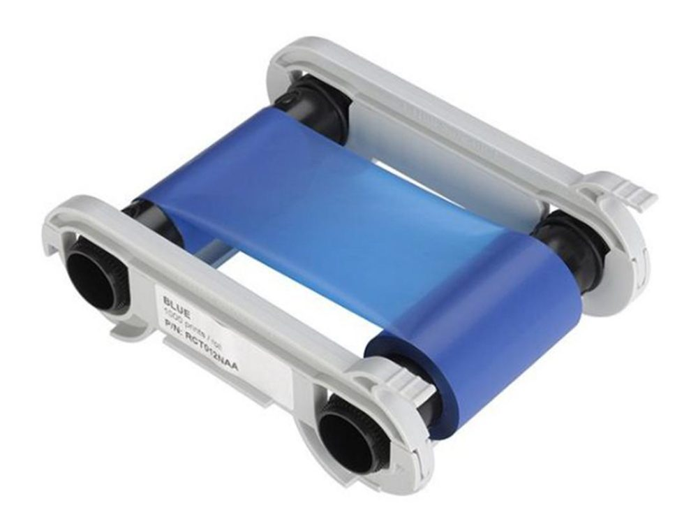 evolis primacy blue printer ribbon