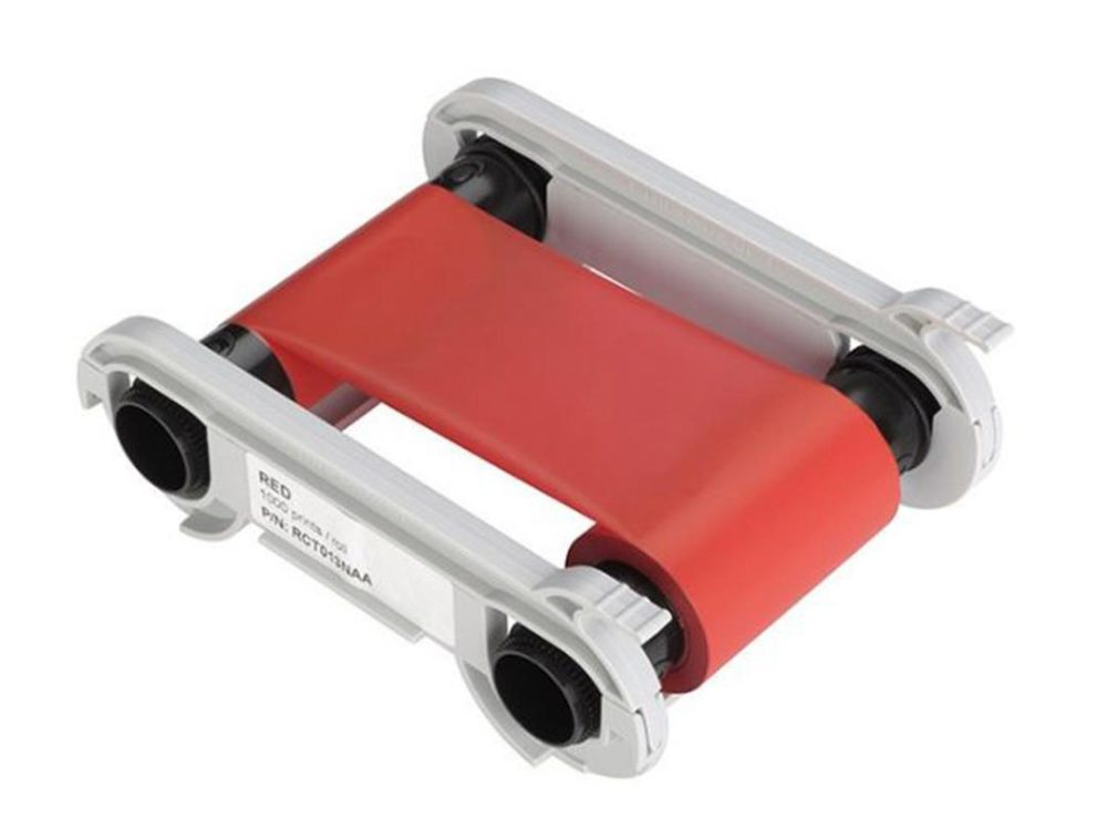evolis primacy red printer ribbon