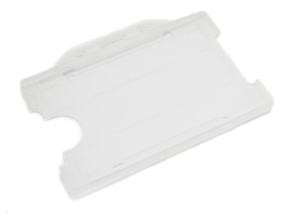 clear open faced rigid card holder