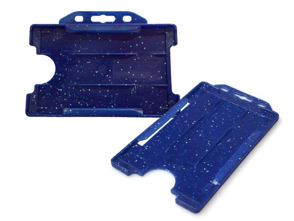 blue metal detectable cardholder