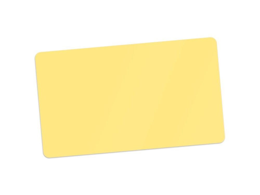 pvc yellow blank cards