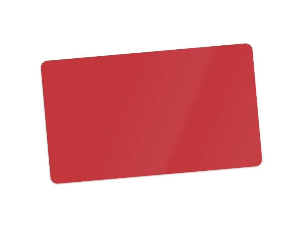 pvc red blank cards