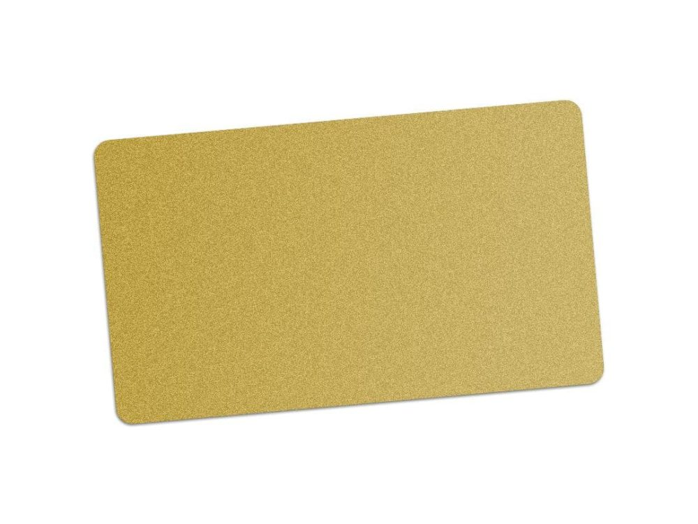 pvc gold blank cards