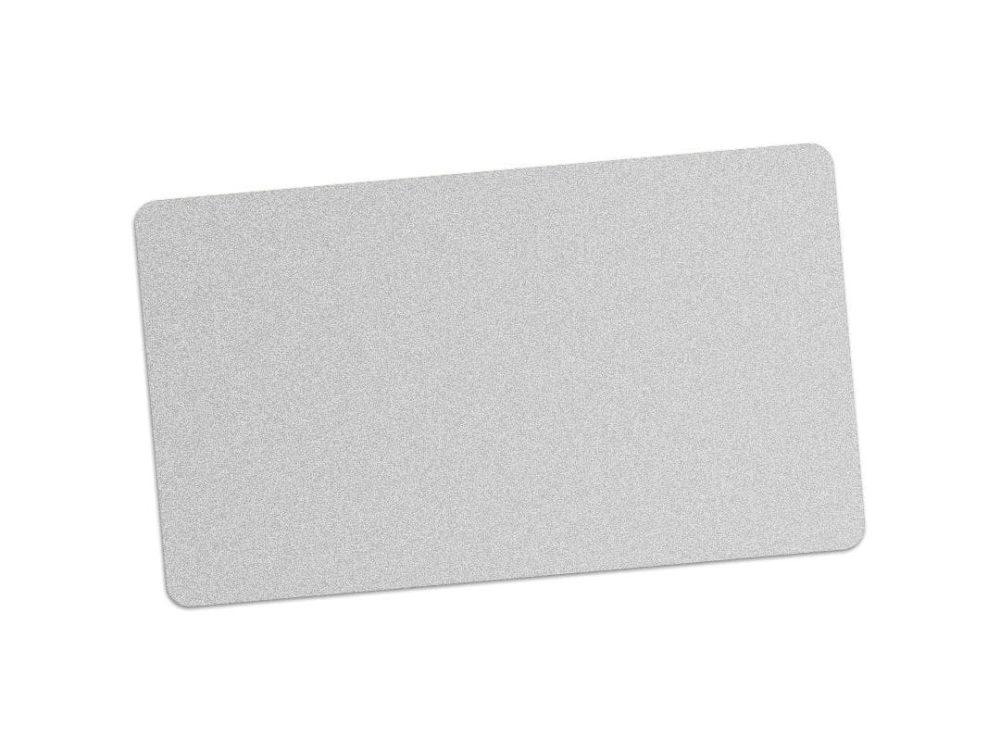 pvc silver blank cards