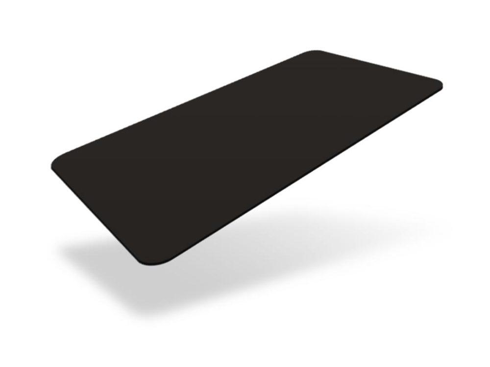 pvc black matte blank cards