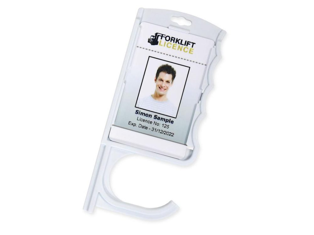door opening card holder