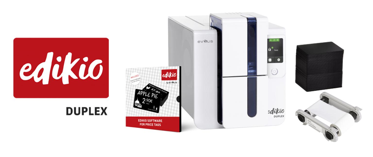 Edikio Flex printer with bundle contents