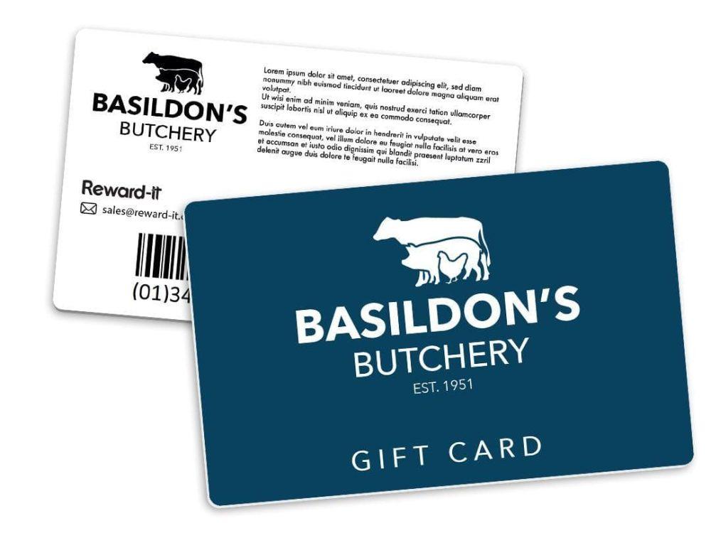 basildon's butchery gift card