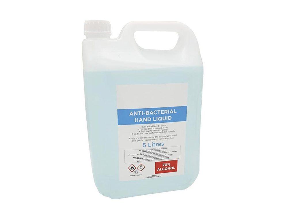 hand sanitiser 5L bottle