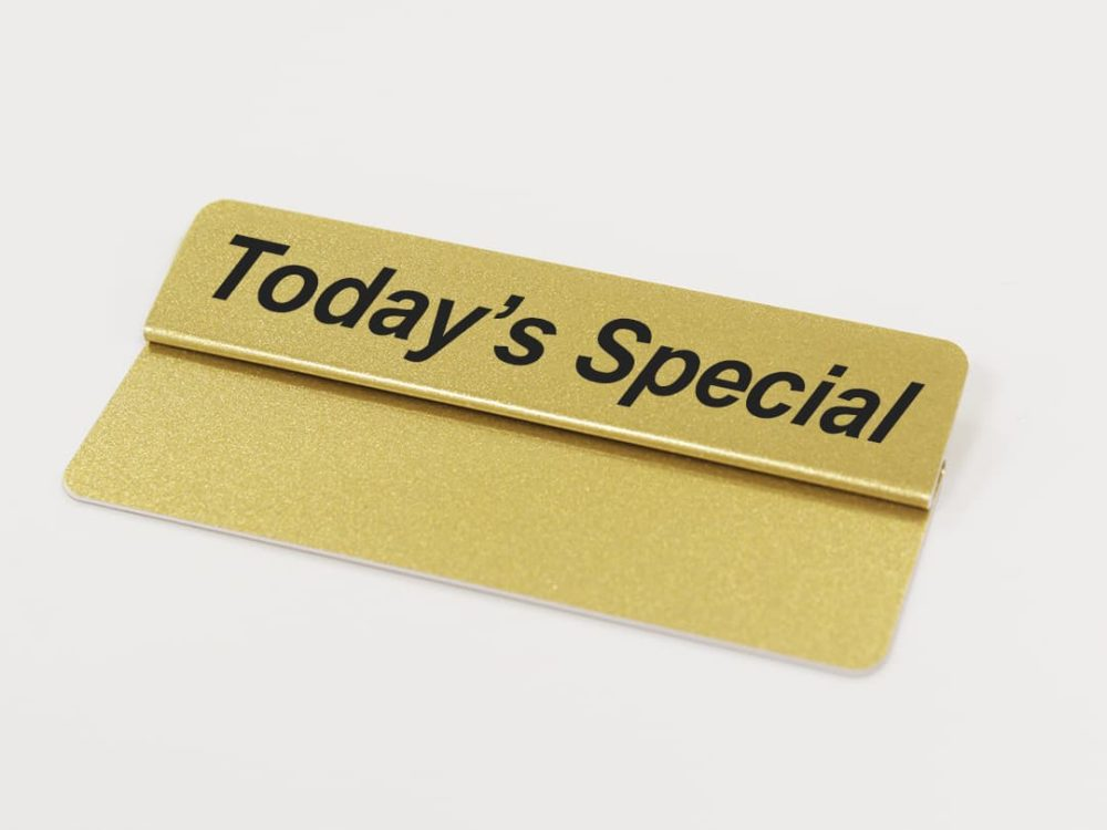 Today's Special Gold Topper