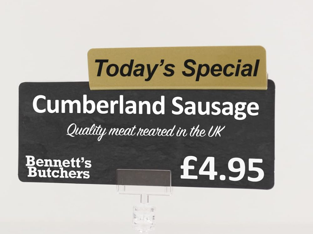Today's Special Gold Topper on a Price Sign