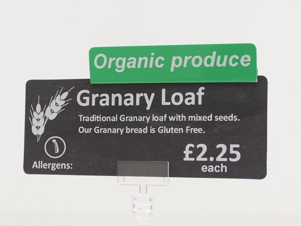 Organic Produce Topper on a Price Sign