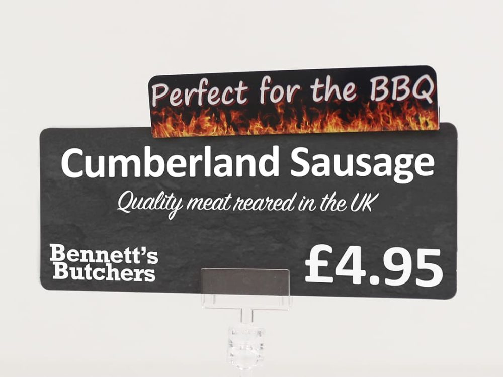 Perfect for the BBQ Topper on a Price Sign
