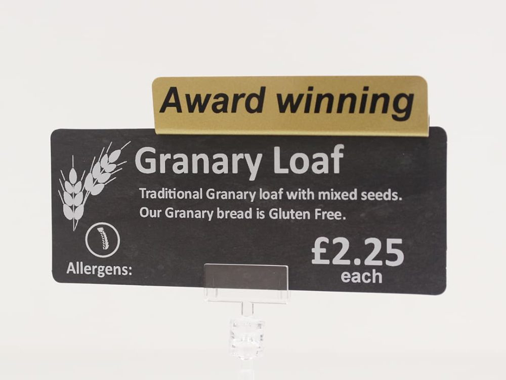 Award Winning Topper on a Price Sign