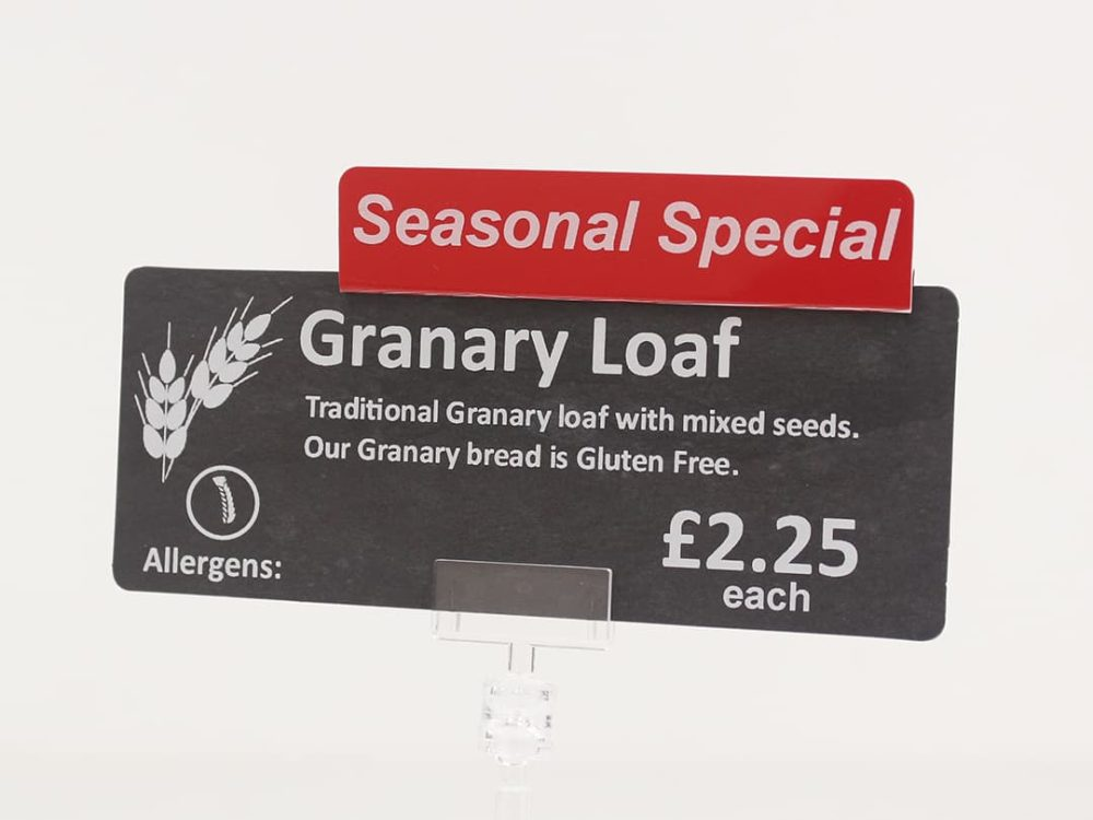 Seasonal Special Topper on a Price Sign