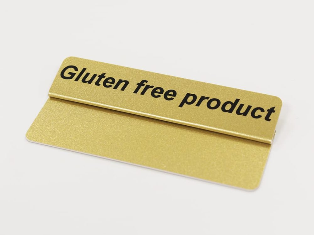 Gluten Free Product Topper