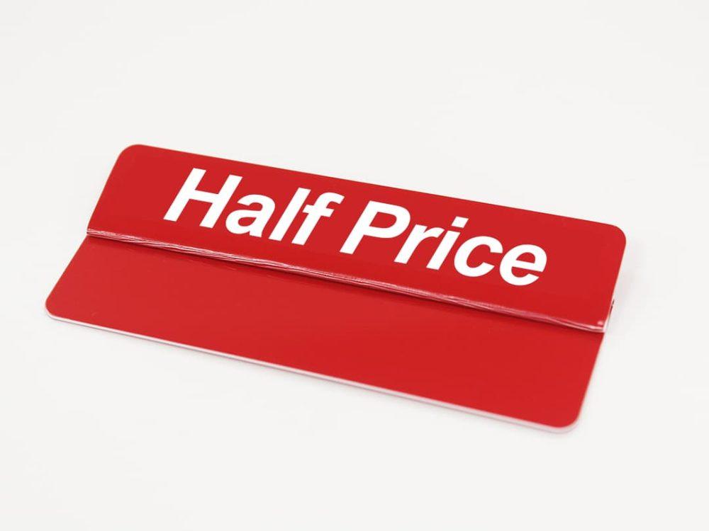 Half Price Topper