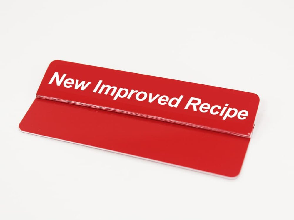 New Improved Recipe Topper