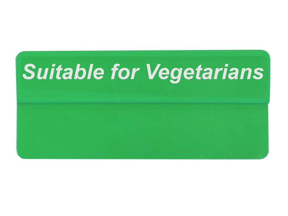 Suitable for Vegetarians Topper