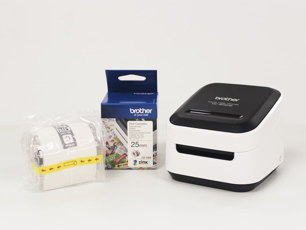 Brother VC-500W Label Printer Bundle