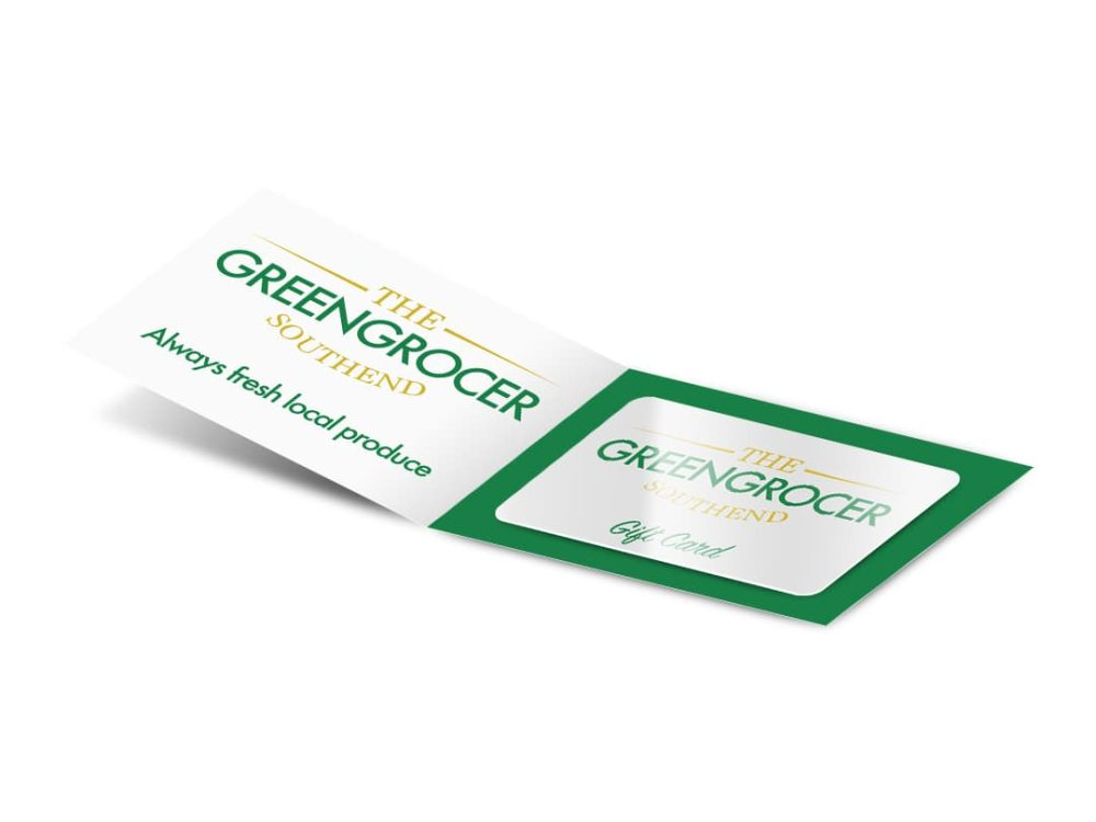 Open image of Greengrocer gift card carrier 210 x 74mm