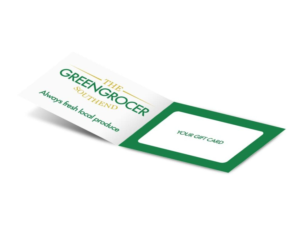 Open image without gift card Greengrocer gift card carrier 210 x 74mm