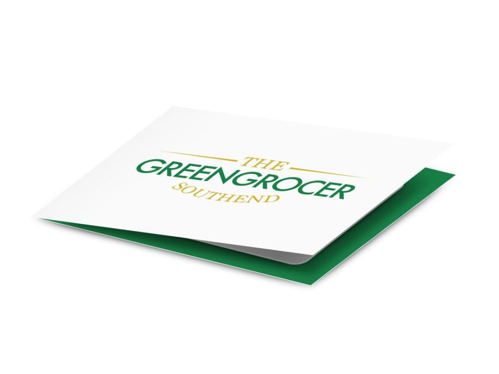 Greengrocer gift card carrier 210 x 74mm