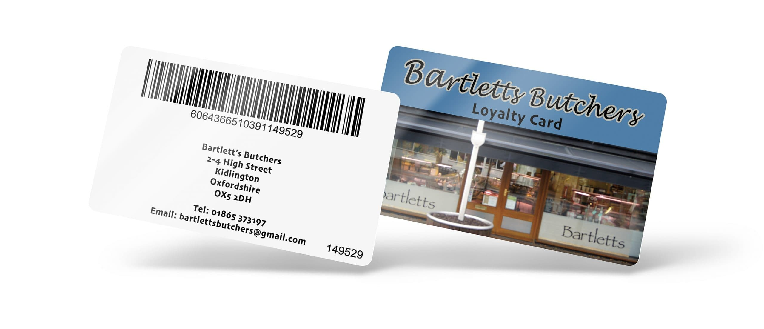 Bartlett's Butchers Loyalty Cards