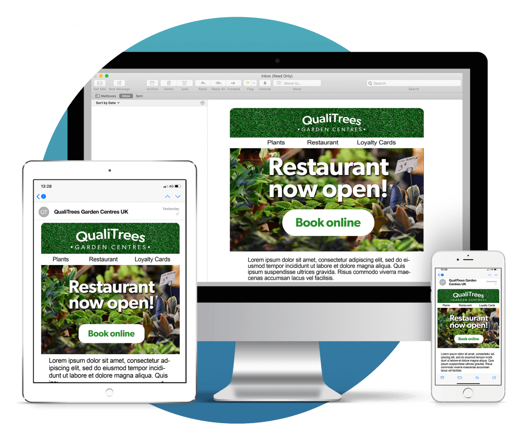 Responsive email design on multiple devices