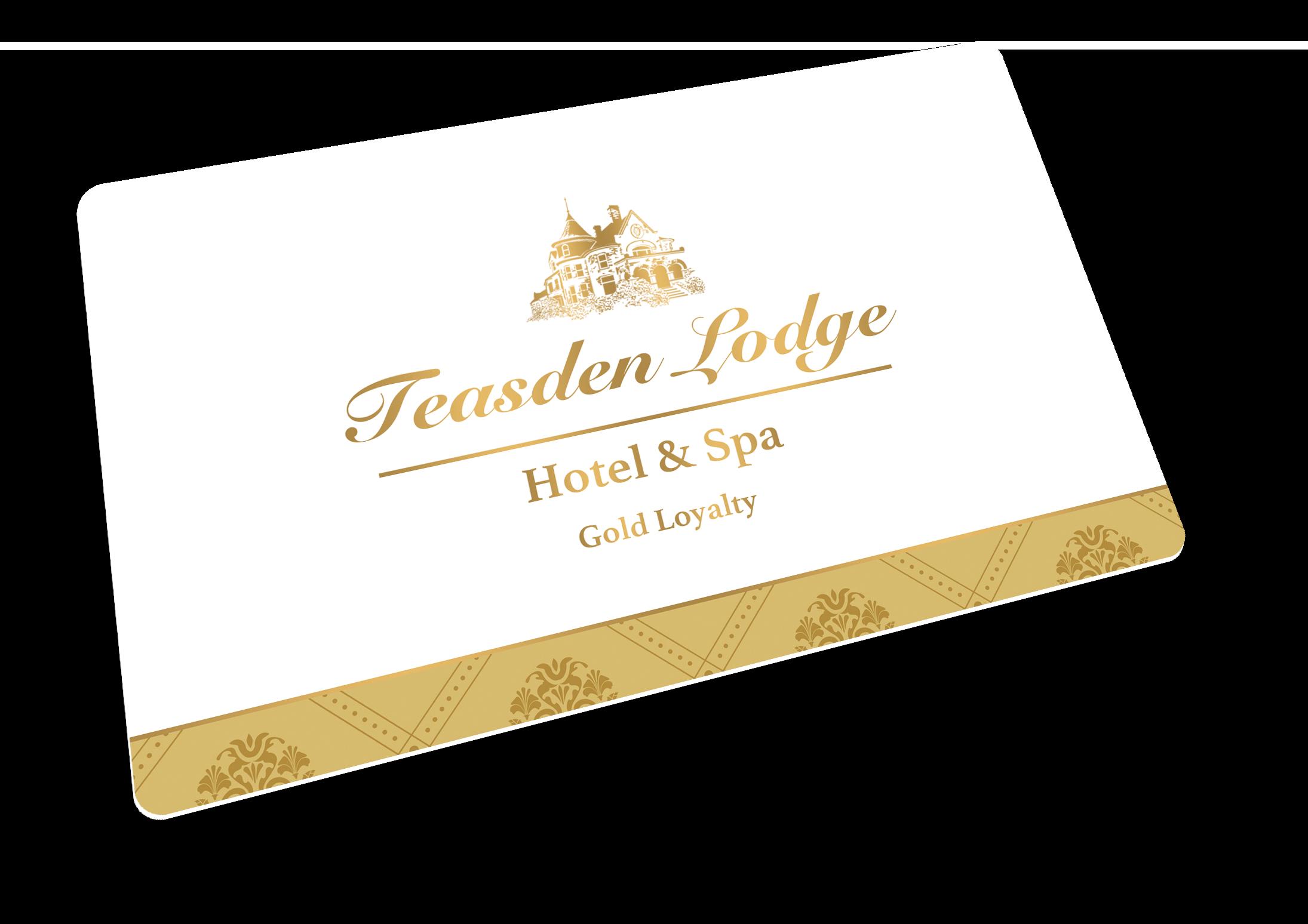 Teasden Lodge Hotel gold loyalty card