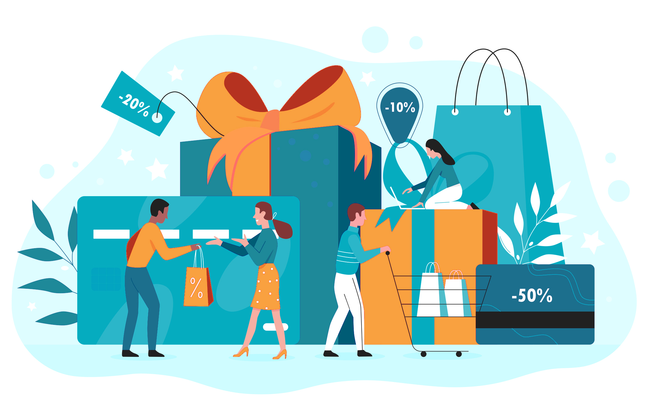 gift and loyalty cards represent savings