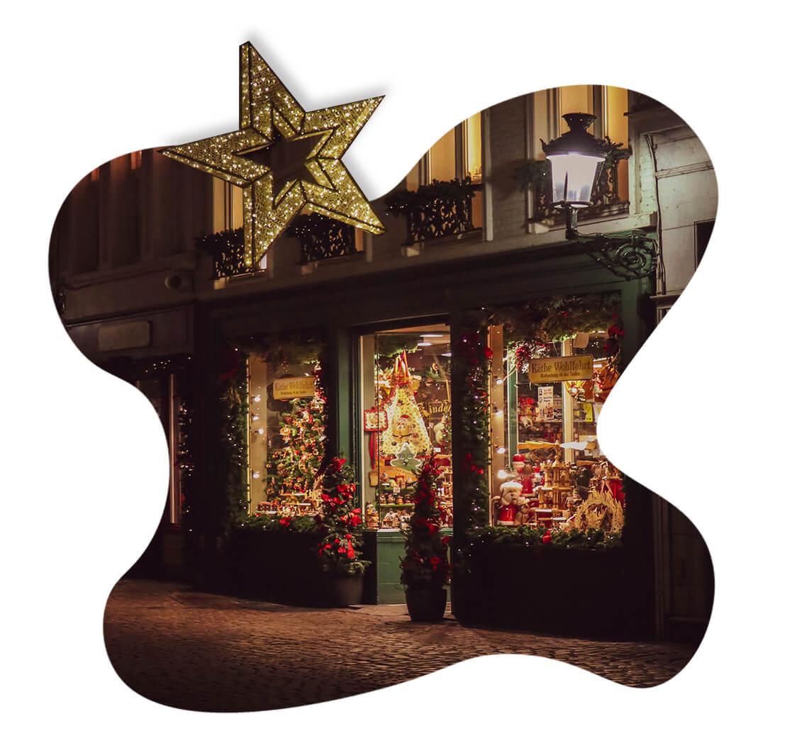 Christmas display in shop window