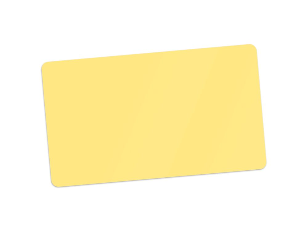 Edikio yellow PVC card for price signs