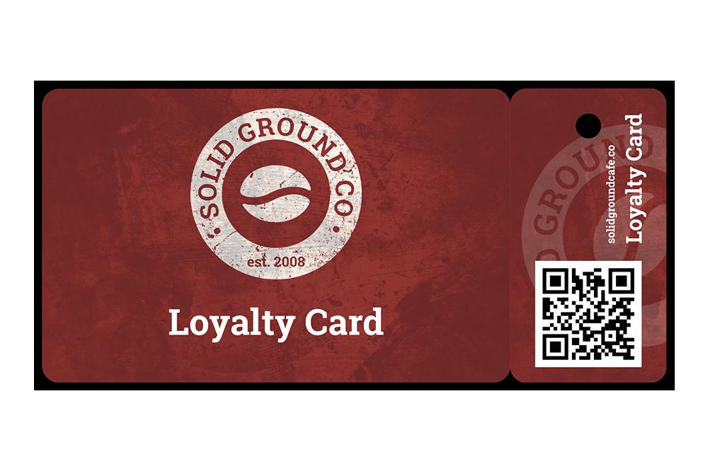 CR80 card and fob loyalty card