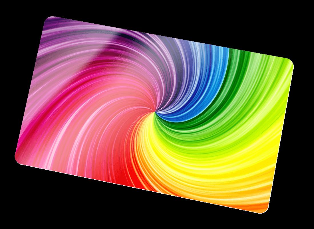 Full-colour printed card