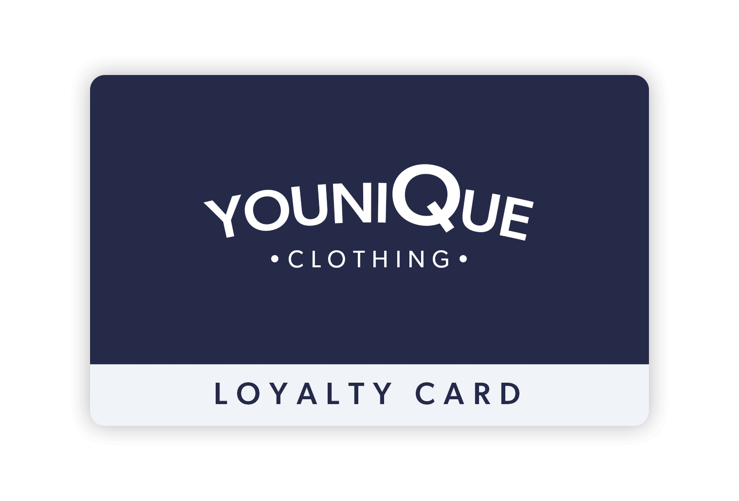 YouniQue Clothing retail loyalty card