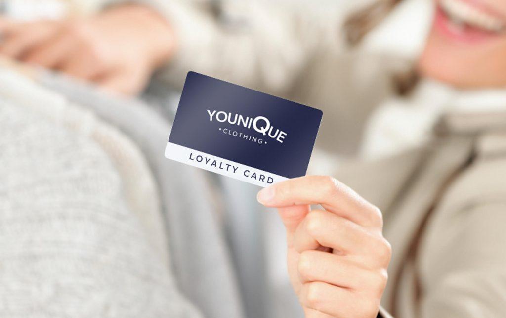 Loyalty card for fashion retailer